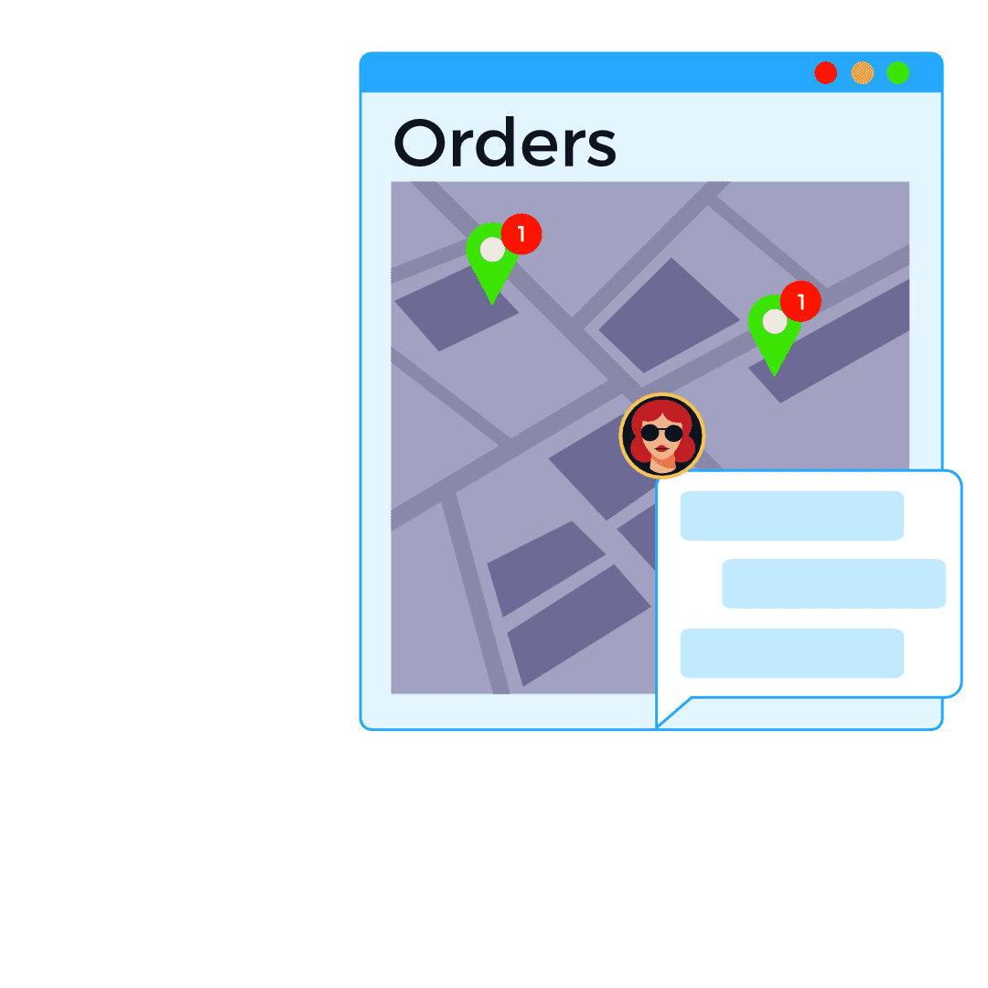 ordering maps icon delivery orders