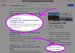 restaurant google results