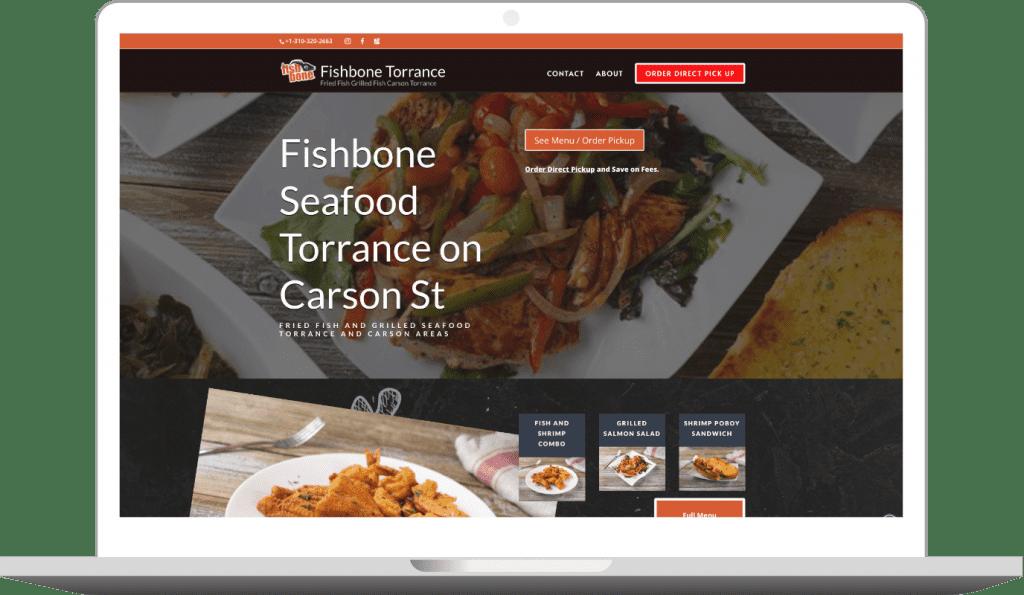 screen shot of website designed by storegear
